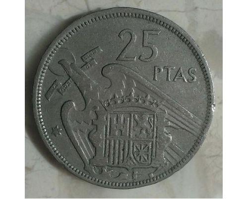 25 песет 1957 год Испания