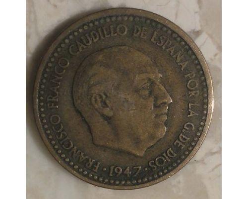 1 песета 1947 год Испания