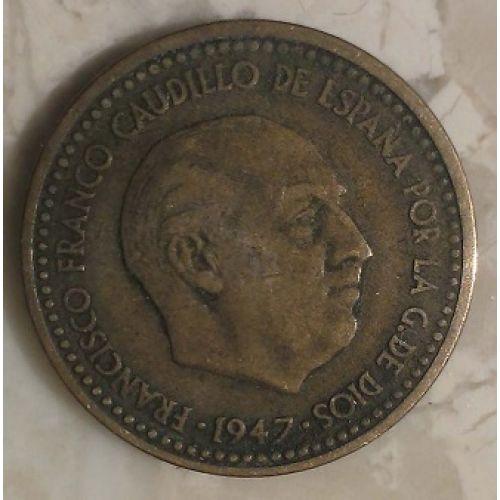 1 песета 1947 год. Испания