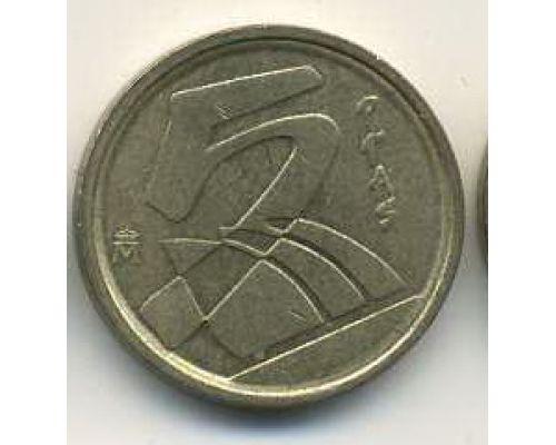 5 песет 1998-2001 год Испания