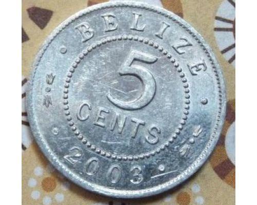 5 центов 2003 год Белиз