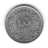10 центов 1981 год. Белиз