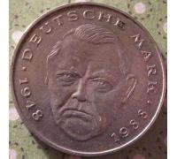 2 марки 1992 год A Германия ФРГ Состояние