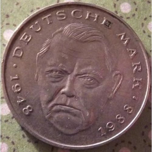 2 марки 1992 год. A. Германия. ФРГ. Состояние