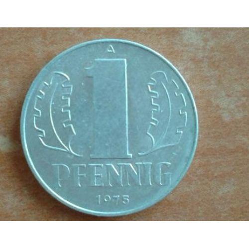 1 пфенниг 1960-1990 год. Германия. ГДР