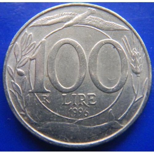 100 лир 1996 год Италия