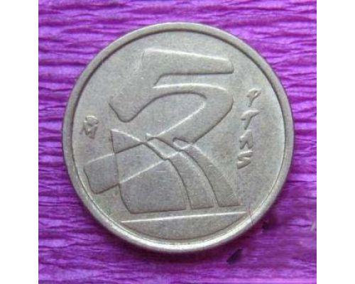 5 песет 1990-1997 год Испания