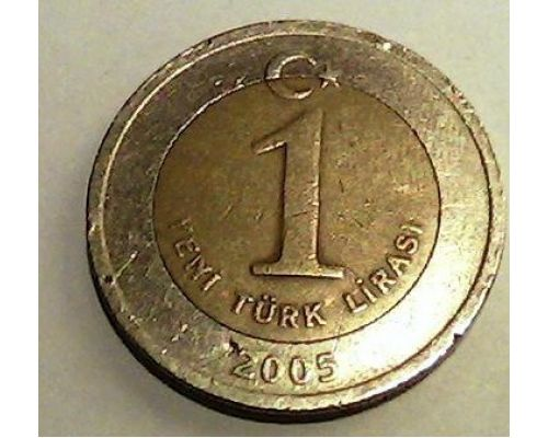 1 лира 2005 год Турция