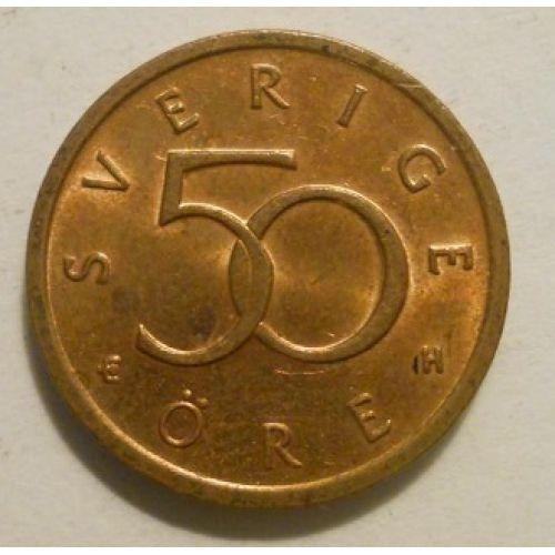 50 эре 1992-2007 год. Швеция