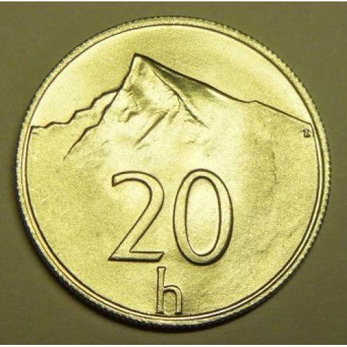 20 геллеров 1993-2002 год Словакия