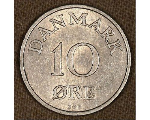 10 эре 1954-1955 года Дания