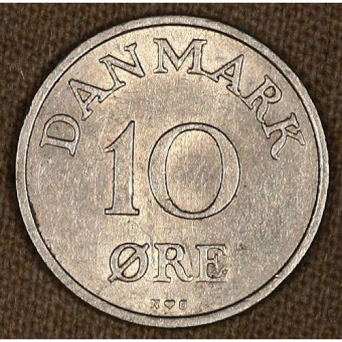 10 эре 1954-1956 года. Дания
