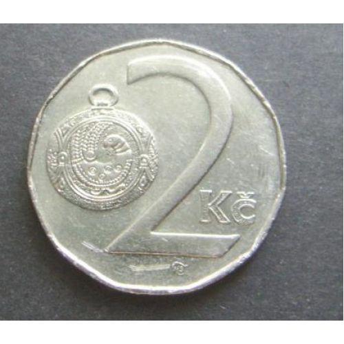 2 кроны 1993-1997 год Чехия