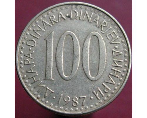 100 динаров 1986-1987 года Югославия