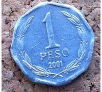 1 песо 2001-2012 года Чили