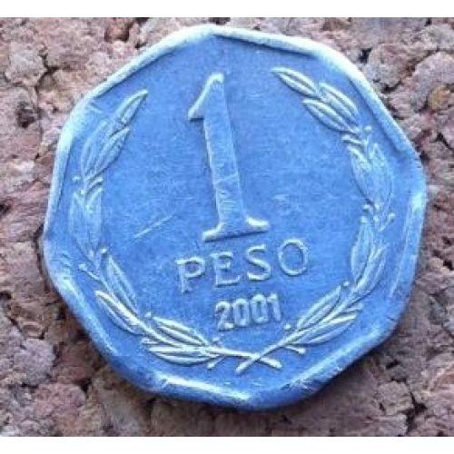 1 песо 2001-2012 года. Чили