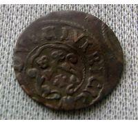 1 солид 1632-1654 Ливония Швеция Кристина Ваза