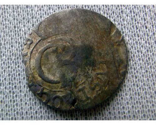 1 солид 1660-1697 Ливония Швеция Карл XI