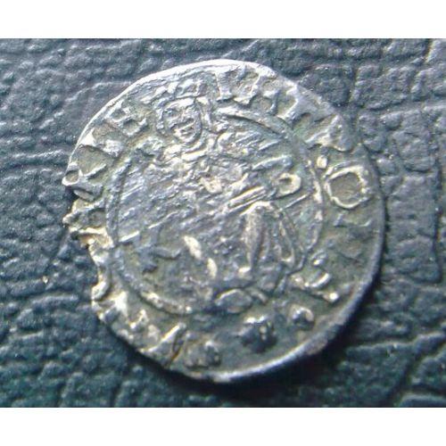 Денарий. 1570 год. Венгрия. Максимилиан 2