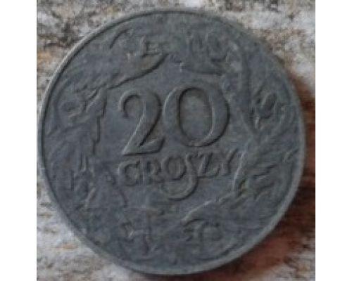 20 грошей 1923 Польша Цинк