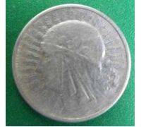 2 злотых 1934 год Польша Серебро Ядвига
