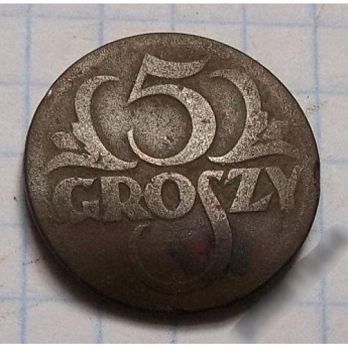 5 грошей 1923. Польша (2)