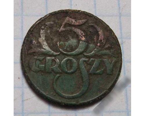 5 грошей 1928 Польша