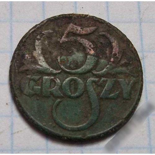 5 грошей 1928. Польша