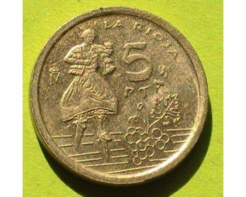 5 песет 1996 год Испания