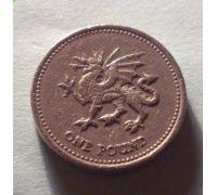 1 фунт 2000 год Великобритания
