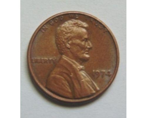1 цент 1974 года. США. Америка