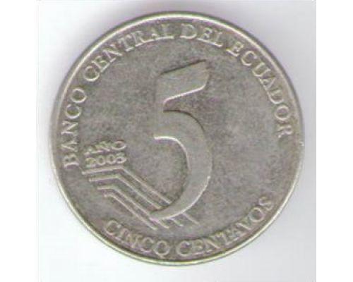 5 сентаво 2000-2003 год Эквадор