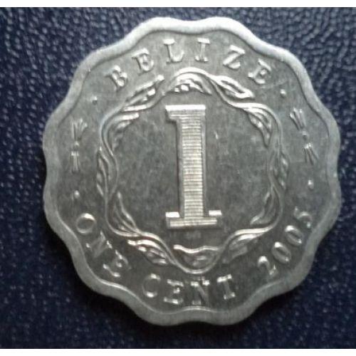 1 цент 2005 год. Белиз