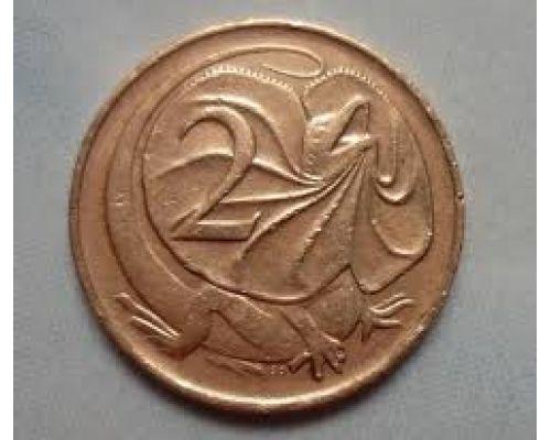 2 цента 1966-1975 год Австралия