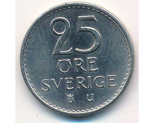 25 эре 1972 год Швеция  Маленький тираж