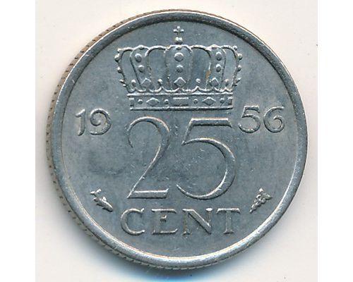 25 центов (1950-1980) Нидерланды