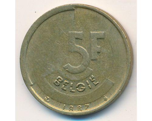 5 франков (1986–1993 г) Бельгия