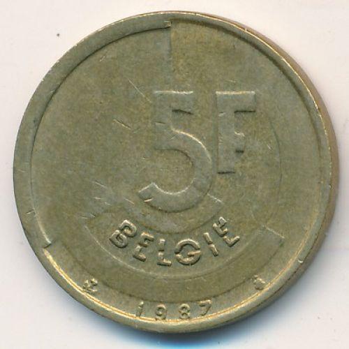 5 франков (1986–1996 г.) Бельгия