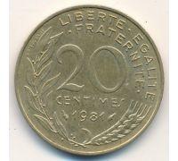 20 сентимов (1962–2001 г) Франция