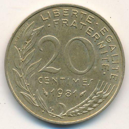 20 сентимов (1962–2001 г.) Франция