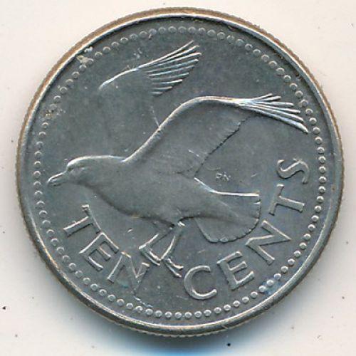 10 центов 1980-1998 Барбадос