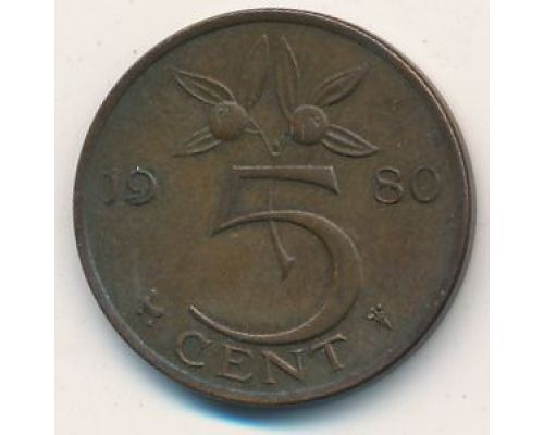 5 центов 1950-1980 год Нидерланды