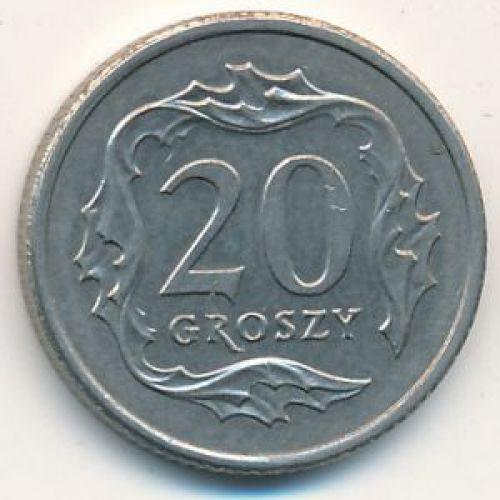 20 грошей 1990-2009 год Польша