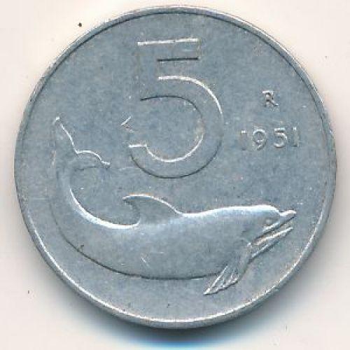 5 лир (1951-1955) Италия