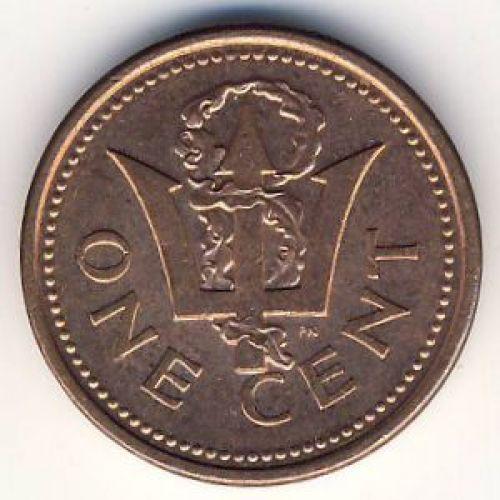 1 цент (1992–2008 г.) Барбадос
