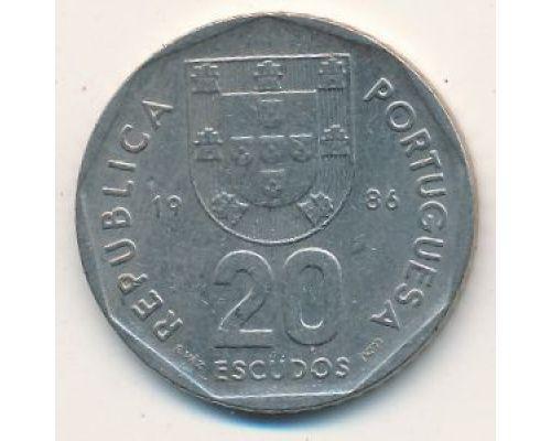 20 эскудо 1986 год Португалия