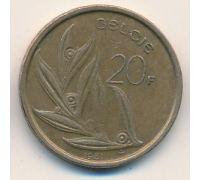 20 франков (1980–1993 г) Бельгия