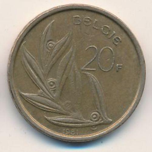 20 франков (1980–1993 г.) Бельгия