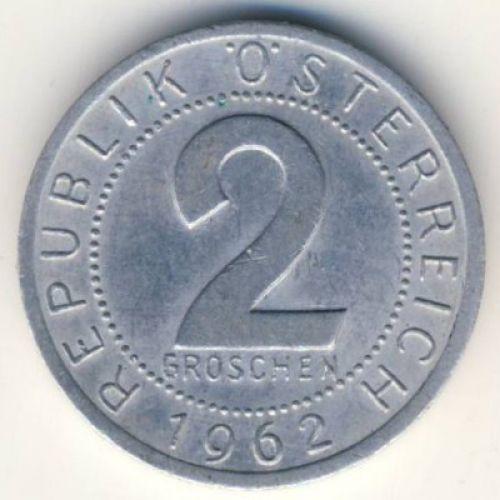 2 гроша 1962 год. Австрия.