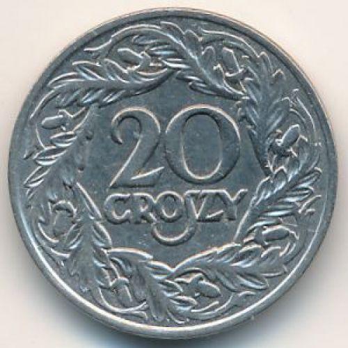 20 грошей 1923. Польша. Никель